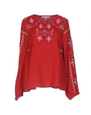 Блузка CHRISTOPHE SAUVAT. Цвет: красный