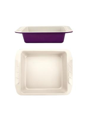 Квадратная форма для выпечки 27,7х25,2х6,8см Augustin Welz. Цвет: бежевый, фиолетовый