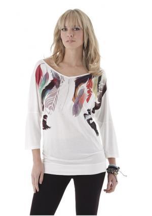 Кофточка Aniston. Цвет: белый с рисунком