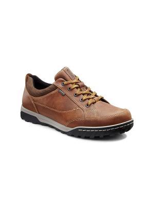 Спортивные ботинки ECCO. Цвет: коричневый, темно-бежевый