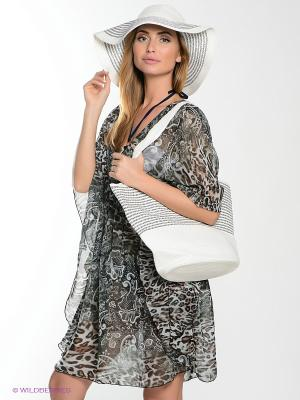 Комплект сумка+шляпа Moltini. Цвет: белый