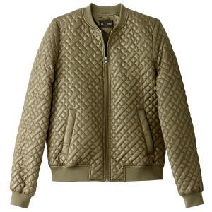 Куртка-бомбер стеганая La Redoute Collections. Цвет: хаки,черный