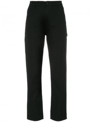Укороченные брюки с логотипом Carhartt. Цвет: чёрный