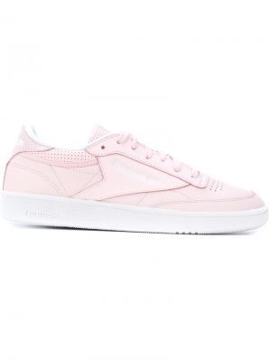 Кроссовки Club C 85 Reebok. Цвет: розовый и фиолетовый