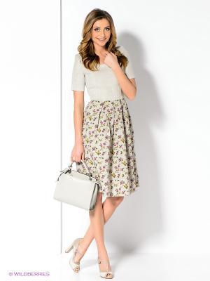 Платье Spicery. Цвет: кремовый, зеленый, фиолетовый