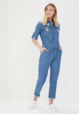 Комбинезон джинсовый Naf. Цвет: синий