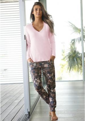 Пижама s.Oliver. Цвет: розовый/с рисунком