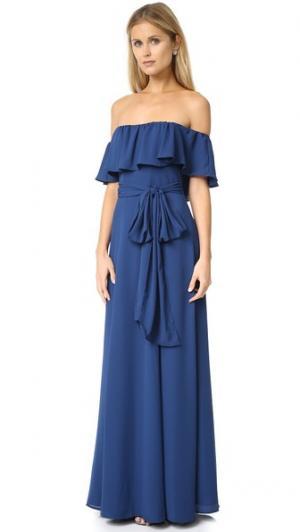 Платье Carmen Yumi Kim. Цвет: чернильный