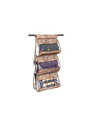 Кофр подвесной для сумок Совы на ветках серебре EL CASA. Цвет: красный, коричневый, серый
