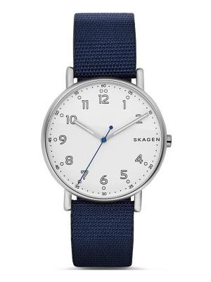 Часы SKAGEN. Цвет: темно-синий, белый, серебристый