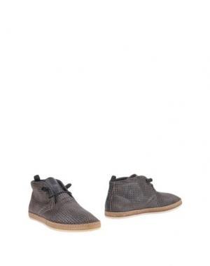 Полусапоги и высокие ботинки NOBRAND. Цвет: стальной серый