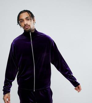 Reclaimed Vintage Фиолетовая бархатная спортивная куртка Inspired. Цвет: фиолетовый