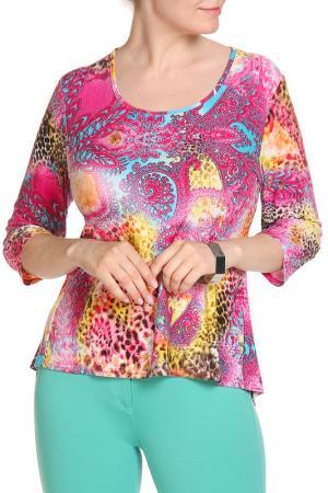 Блуза Кливиа LAVELLE. Цвет: ярко-розовый
