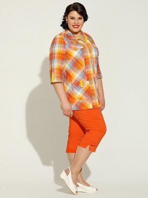 Блузка Silver-String. Цвет: оранжевый, желтый