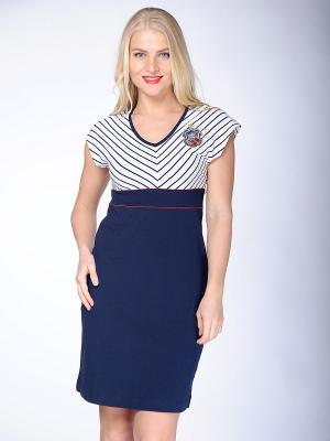 Платье Begood. Цвет: синий, белый