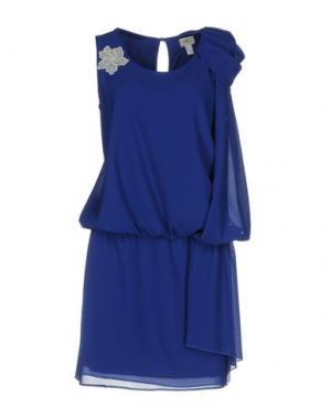 Короткое платье CASTING. Цвет: темно-синий