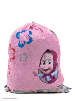 Мешок для обуви Сказка Маша и медведь. Цвет: розовый