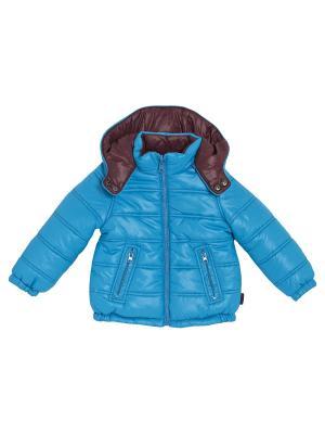 Куртка двухсторонняя CHICCO. Цвет: голубой