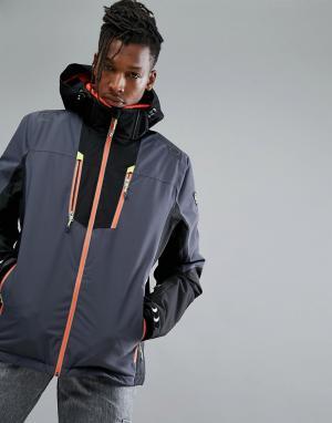 Killtec Горнолыжная куртка с капюшоном Simen. Цвет: серый