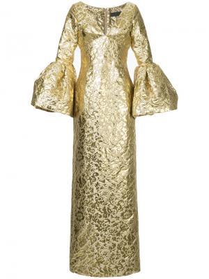 Платье Edmund Greta Constantine. Цвет: металлический