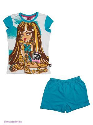 Пижама Monster High. Цвет: белый
