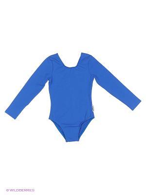 Гимнастический купальник EMDI. Цвет: синий