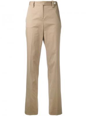 Классические брюки Kiton. Цвет: телесный