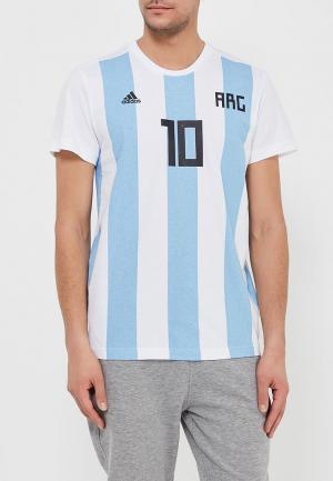 Футболка adidas. Цвет: голубой