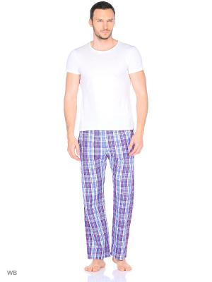 Домашние брюки YC COTTON. Цвет: голубой