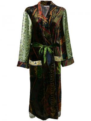 Длинное пальто с поясом Pierre-Louis Mascia. Цвет: многоцветный