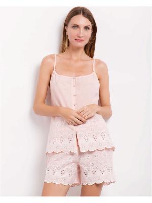 Пижама Deseo. Цвет: бледно-розовый
