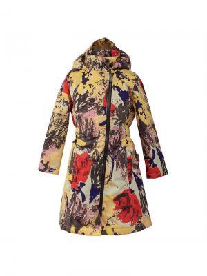 Пальто для девочек LUISA HUPPA. Цвет: светло-оранжевый