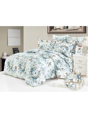 Комплект постельного белья, Розарий, Евро KAZANOV.A.. Цвет: белый