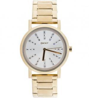Часы с золотистым металлическим браслетом DKNY