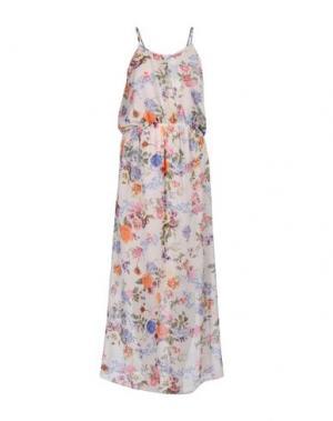 Длинное платье LA FEE MARABOUTEE. Цвет: слоновая кость