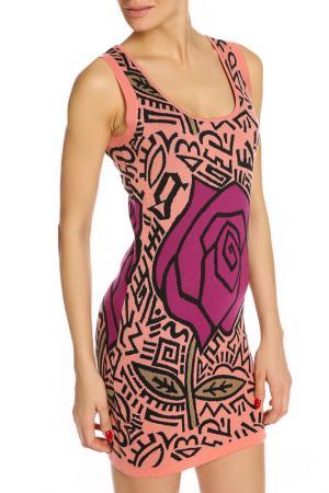 Легкое летнее платье Galliano. Цвет: мультиколор