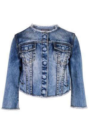 Жакет Gulliver. Цвет: голубой, джинсовый