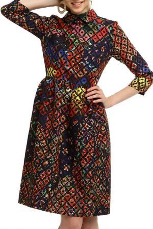 Платье Domena. Цвет: multicolor