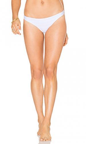 Классические плавки бикини Shoshanna. Цвет: белый