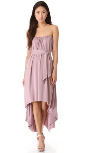 Асимметричное платье Twobirds. Цвет: коричневый