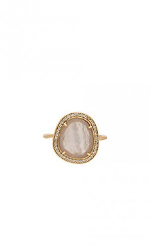 Кольцо с инкрустированными камнями Melanie Auld. Цвет: металлический золотой