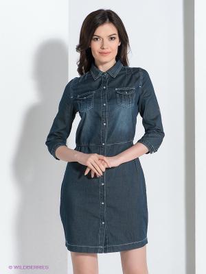 Платье Viaggio. Цвет: темно-синий