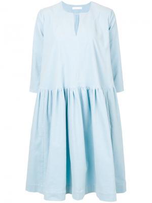 Вельветовое платье Peter Jensen. Цвет: синий