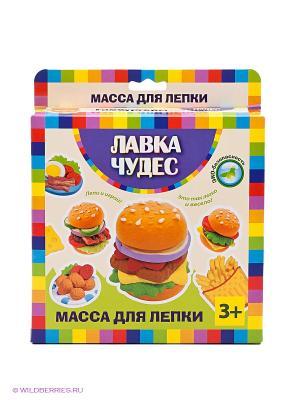 Набор массы для лепки Гамбургеры Лавка Чудес. Цвет: оранжевый, розовый