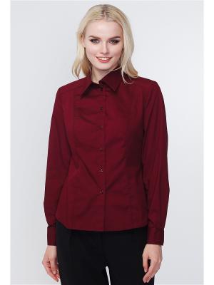 Рубашка VICTORIA VEISBRUT. Цвет: бордовый