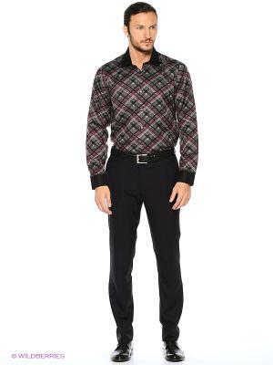 Рубашка KARFLORENS. Цвет: антрацитовый, темно-серый