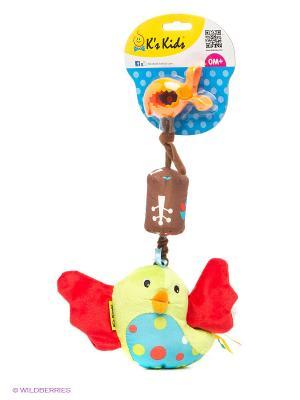 Игрушка-подвеска Птица Счастья K'S Kids. Цвет: коричневый, оранжевый