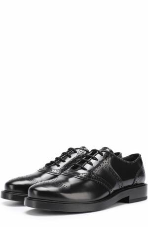 Кожаные оксфорды Gomma на шнуровке Tod's. Цвет: черный