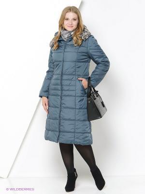 Пальто DizzyWay. Цвет: бирюзовый