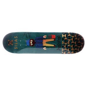 Дека для скейтборда  S5 Silas Miniatures 32.38 x 8.25 (21 см) Habitat. Цвет: зеленый,мультиколор